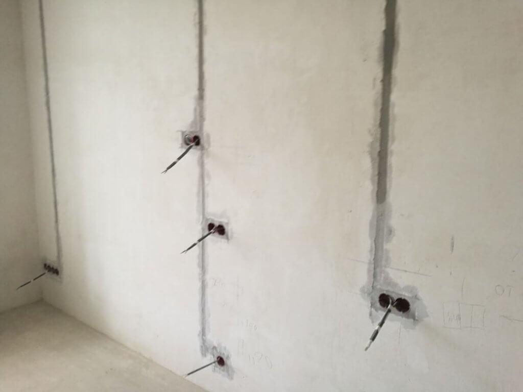 Заделанные канавки для кабеля