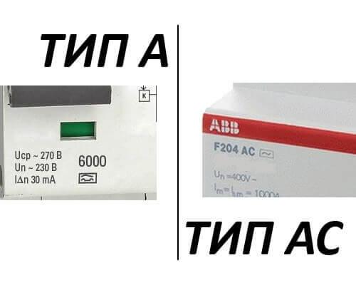 Маркировка тип А и тип АС