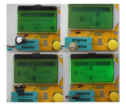 Графическое обозначение компонентов во время проверки