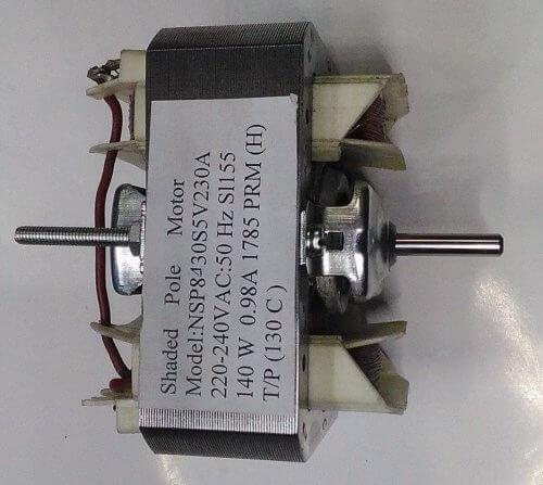 Асинхронный двигатель с расщепленным полюсом из вытяжки