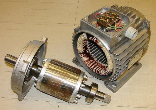 Коротко замкнутый ротор и статор асинхронного двигателя