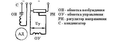 Схема конденсаторного двигателя