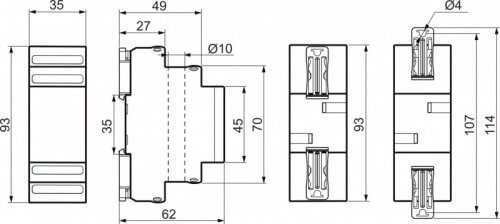 Размеры вольтамперметра