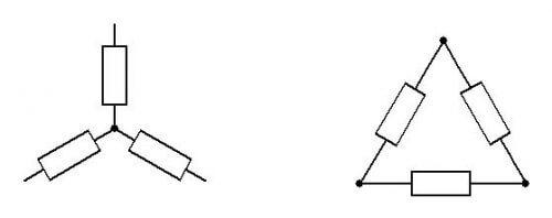 Упрощенная схема звезды и треугольника