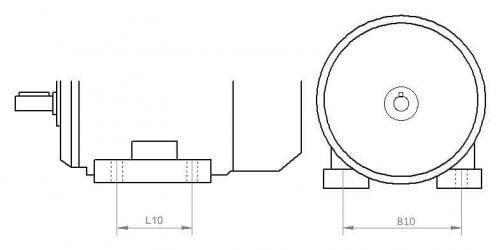 Установочные размеры электродвигателей на лапах
