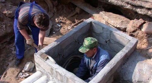 Строительство колодца для кабельной канализации