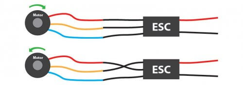 Схема подключения к контроллеру и реверс БК-мотора