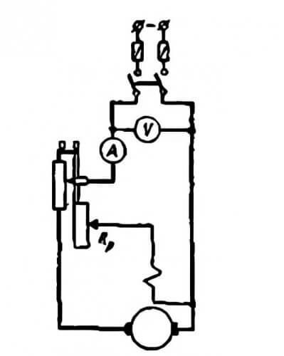 Пусковой реостат в цепи якоря и статора
