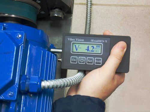 Измерение вибрации электродвигателя