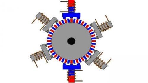Схема работы гибридного ШД
