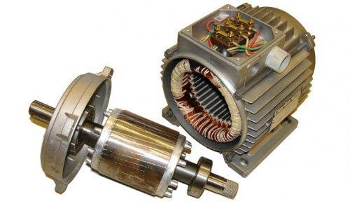 Трёхфазный асинхронный электродвигатель с короткозамкнутым ротором