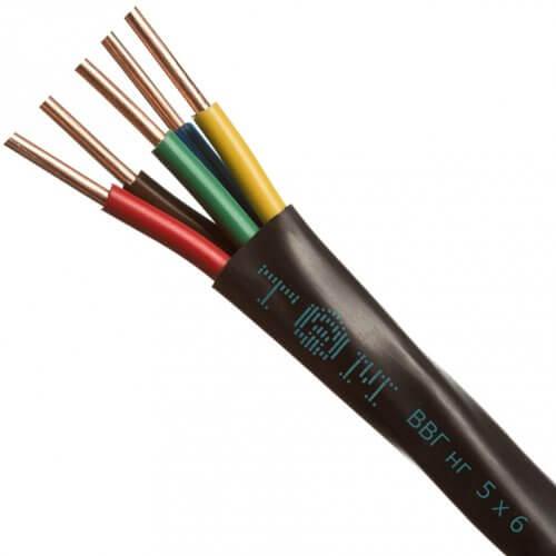 Оболочка жил разных цветов в кабеле ВВГ