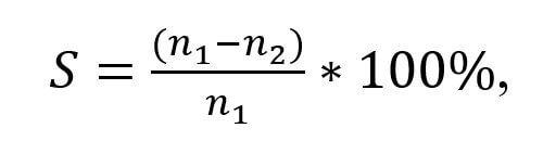 Формула для расчета скольжения асинхронного двигателя