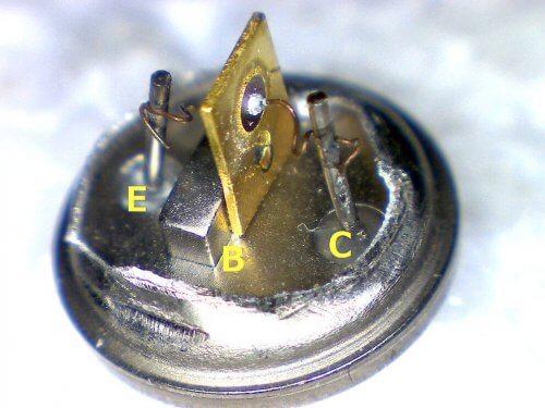 Сплавной транзистор без корпуса