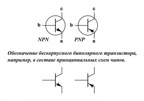Обозначение транзисторов