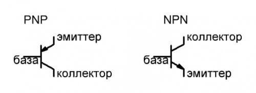 PNP и NPN транзистор