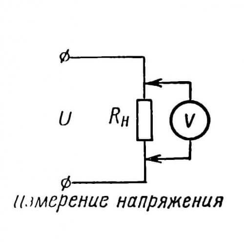Вольтметр подключают параллельно элементу, на котором измеряют напряжение