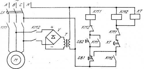 Торможение асинхронного двигателя постоянным током