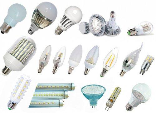 Разнообразие светодиодных ламп
