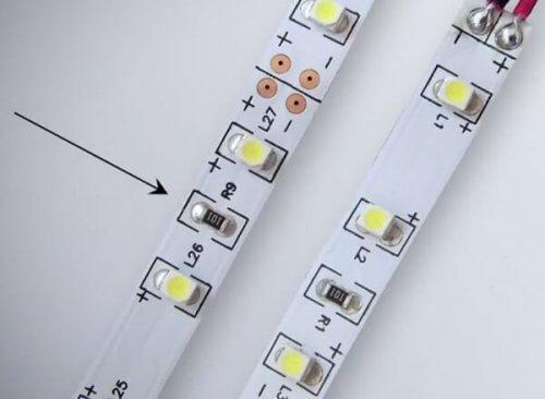 Резисторы в светодиодной ленте