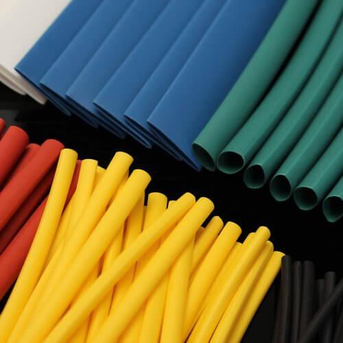 Термоусаживаемые трубки разных цветов и диаметров