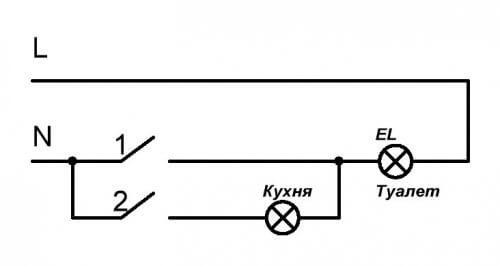 неправильная схема подключения выключателей