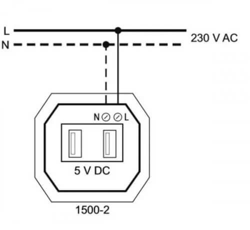 Схема подключения USB-розетки