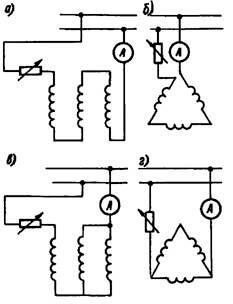 Схемы подключения асинхронного двигателя к источнику постоянного тока